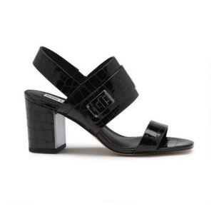 NEW Karl Lagerfeld Jaylynn Black Sling Back Sandal